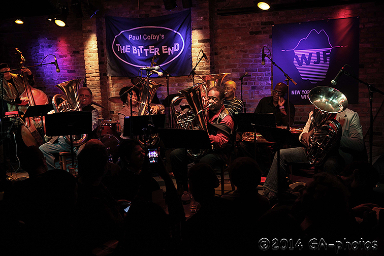Howard Johnson's Gravity performs at the Bitter End, NYC Winter Jazzfest 2014