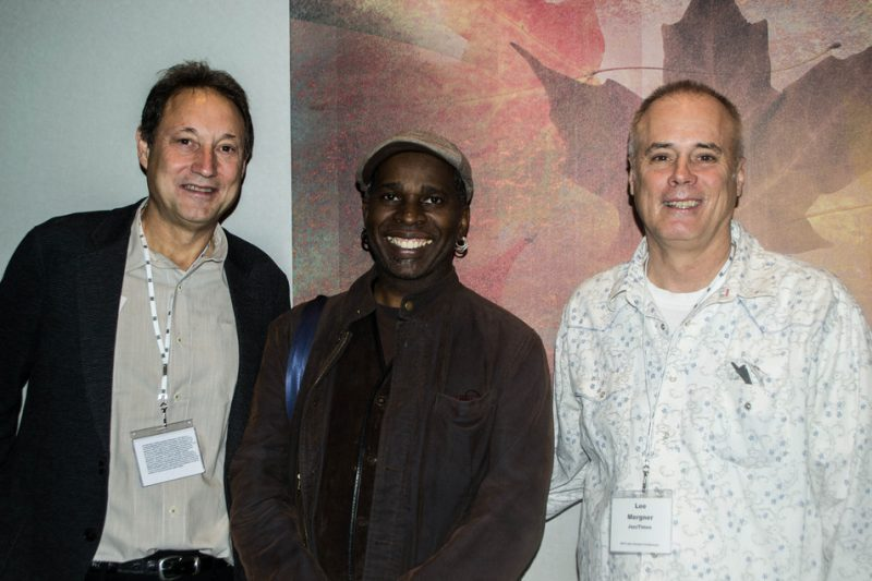 Peter Gordon (Thirsty Ear/Jazz Forward Coalition), musician Vernon Reid and JazzTimes publisher Lee Mergner at Jazz Connect, NYC, Jan. 2014