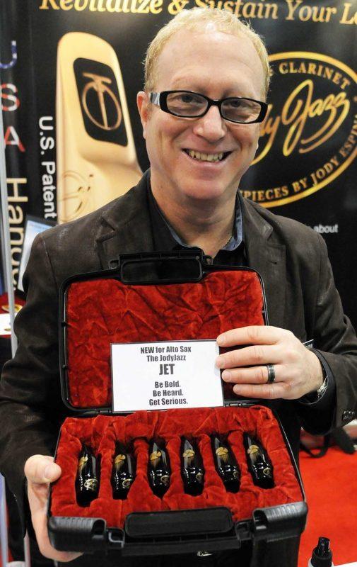 JodyJazz's Jody Espina with the new JET alto sax mouthpiece series