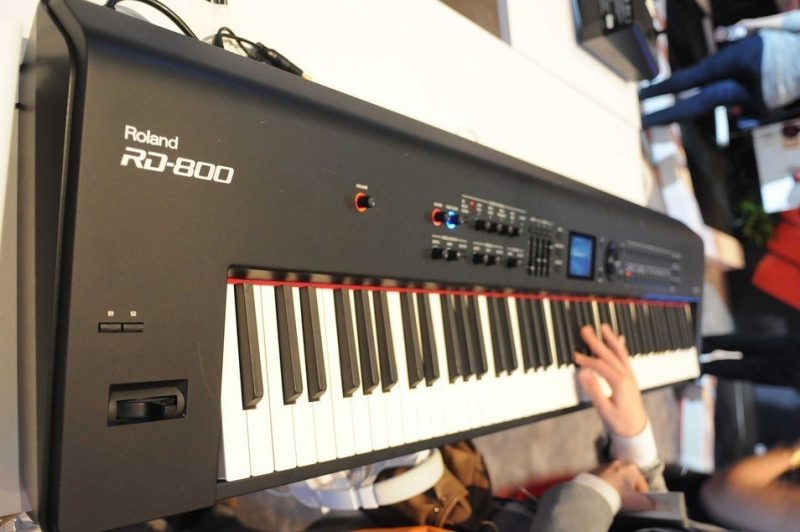 Roland RD-800 keyboard on display at Winter NAMM 2014