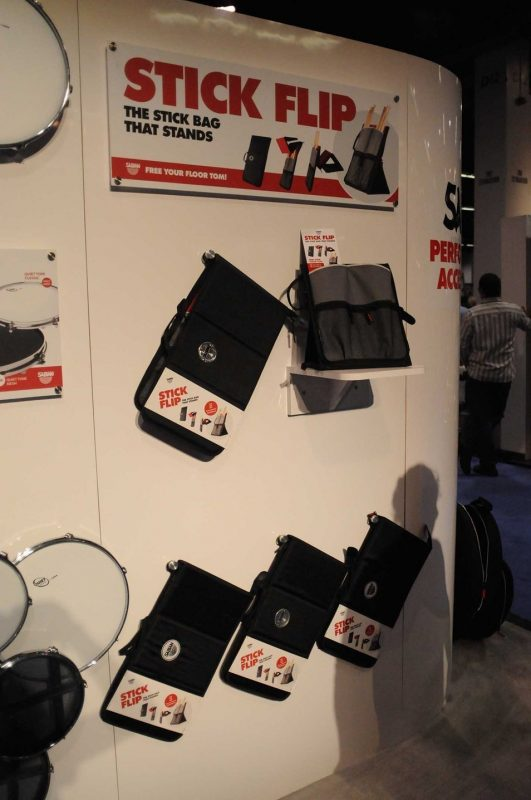 Sabian's Stick Flip stick bag/stand on display at Winter NAMM 2014