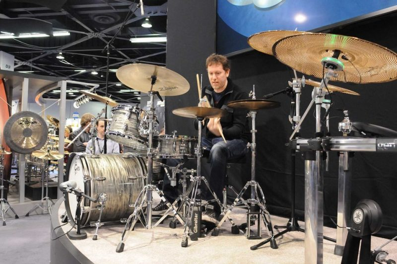 Zach Danziger plays Zildjian Kerope series cymbals at Winter NAMM 2014