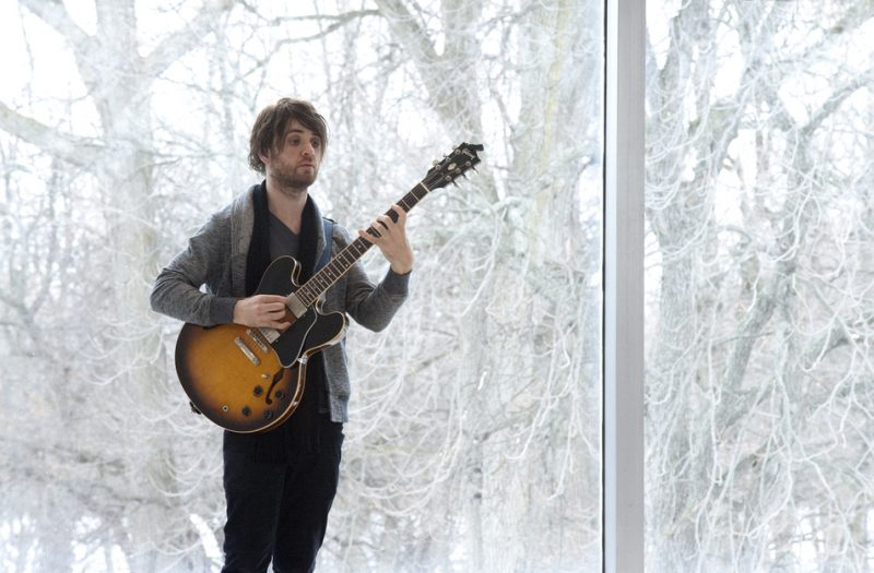 Guitarist Justin Altura in performance at the Albright-Knox Art Gallery in Buffalo on Sunday, March 23