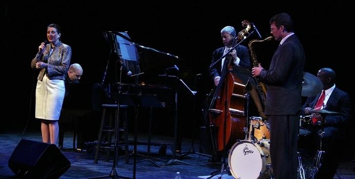 Alexis Cole and band, Sarasota (Florida) Jazz Festival 2014