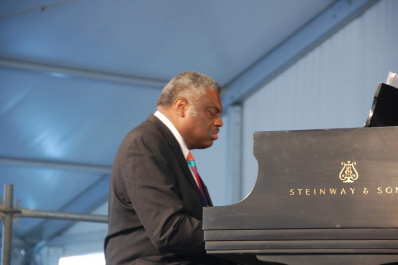 Mulgrew Miller, performing with Russell Malone and Ron Carter, at the 2011 New Orleans Jazz & Heritage Festival