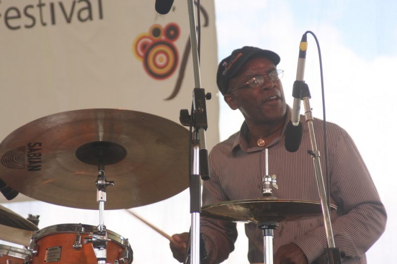 Rudy Royston performing with J.D. Allen at 2010 CareFusion Newport Jazz Festival