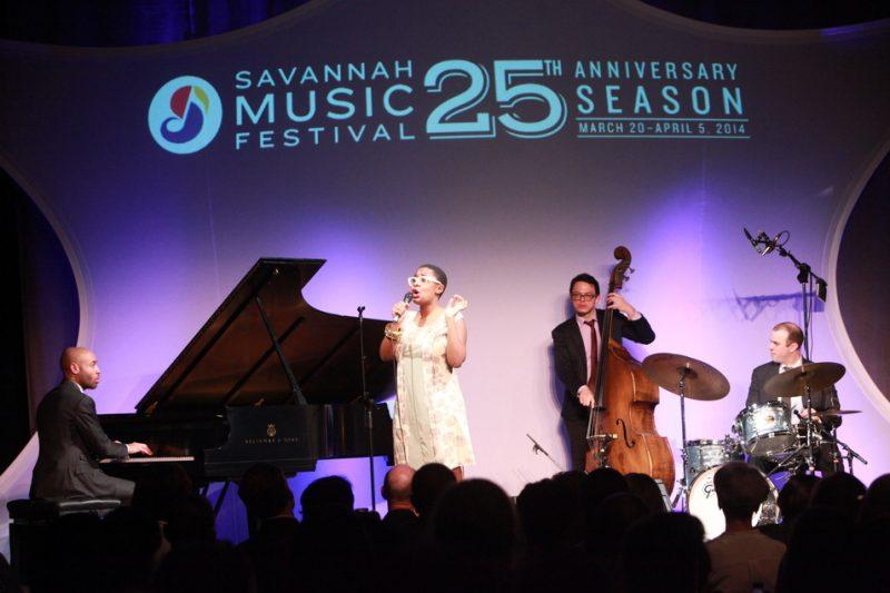 Aaron Diehl, Cecile McLorin Salvant, Paul Sikivie, Peter Van Nostrand, Savannah Music Festival 2014
