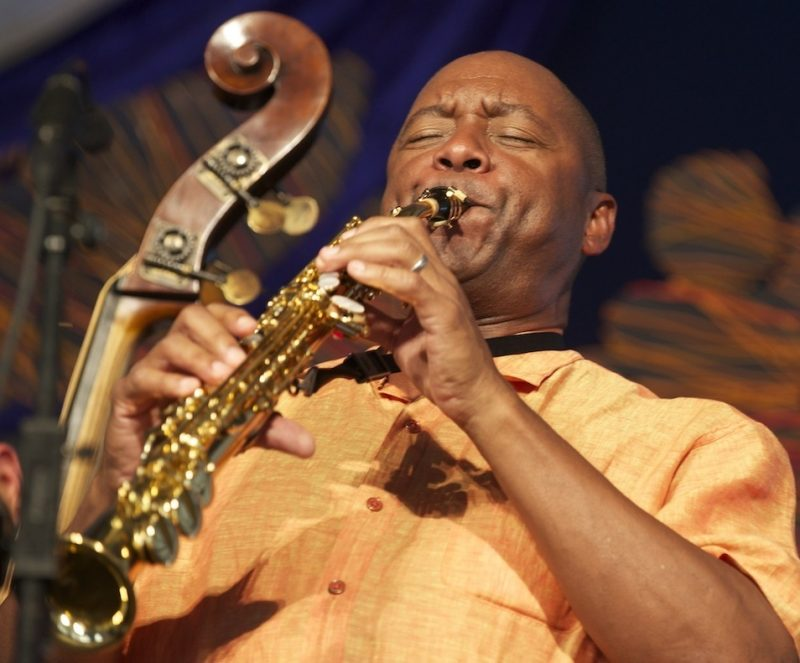 Branford Marsalis onstage at the 2014 New Orleans Jazz & Heritage Festival