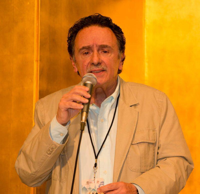 Claudio Roditi, International Jazz Day press conference, Osaka, Japan, April 30, 2014