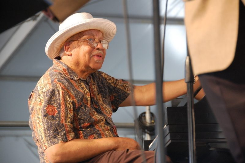 Ellis Marsalis at the 2014 New Orleans Jazz & Heritage Festival