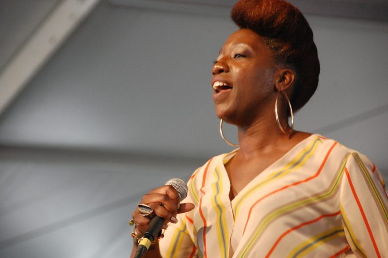 Erica Falls at the 2014 New Orleans Jazz & Heritage Festival