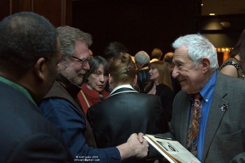 Fred Taylor with friends during JazzBoston's event honoring him with Roy Haynes Award