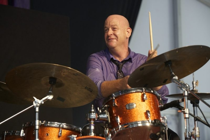 Geoff Clapp onstage at the 2014 New Orleans Jazz & Heritage Festival