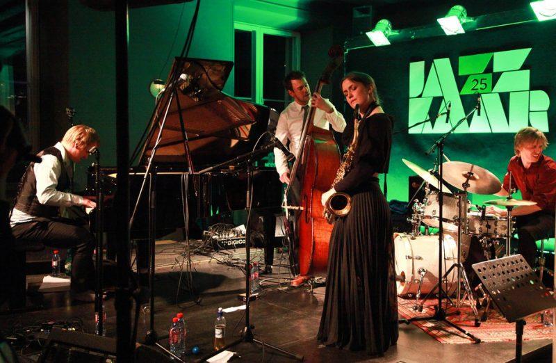 Oscar Grönberg, Trygve Waldemar Fiske, Hanna Paulsberg, Hans Hulbækmo. NO99 Jazz Club, Jazzkaar, Estonia, April 2014