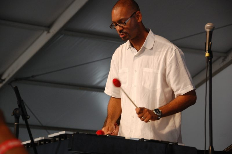 Jason Marsalis at the 2014 New Orleans Jazz & Heritage Festival