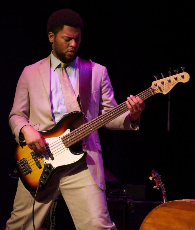 Bassist Barry Stephenson with Jonathan Batiste & Stay Human at The American Theater, Hampton, VA