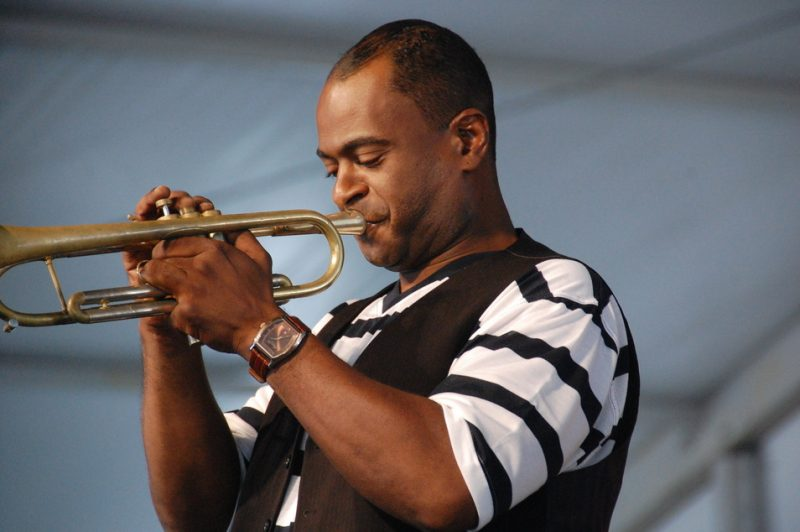Marlon Jordan at the 2014 New Orleans Jazz & Heritage Festival