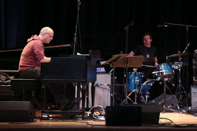 John Medeski (left) and Jim Black at NYC's Town Hall in March 2014