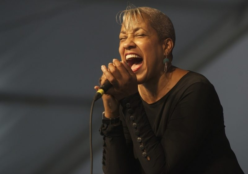 René Marie onstage at the 2014 New Orleans Jazz & Heritage Festival