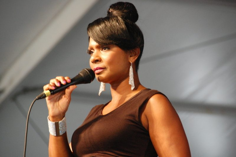 Stephanie Jordan at the 2014 New Orleans Jazz & Heritage Festival