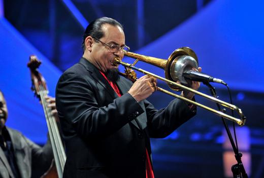 Steve Turre, International Jazz Day, Osaka, Japan, April 30, 2014