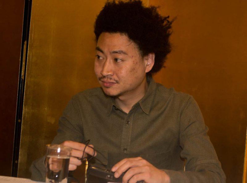 Takuya Kuroda, International Jazz Day press conference, Osaka, Japan, April 30, 2014