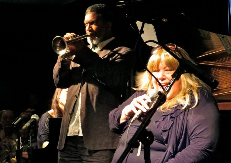 Graham Haynes and Rebecca Parris perform at event honoring Fred Taylor