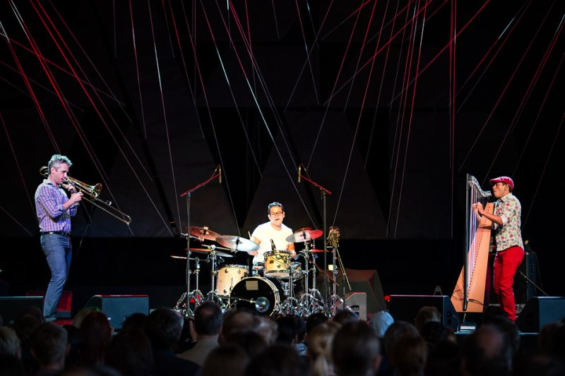 Marshall Gilkes, Rodrigo Villalon, Edmar Castaneda. Marina Pavilion, Jazzkaar, Estonia, April 2014