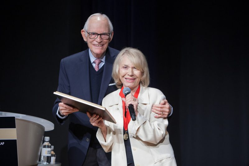 Alan Bergman inducts Helen Merrill into ASCAP's Jazz Wall of Fame, NYC 6-14