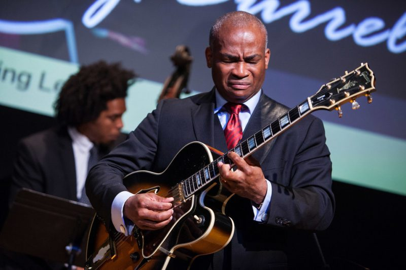 """Russell Malone performed Kenny Burrell's """"Listen to the Dawn"""" in honor of Burrell's induction into ASCAP's Jazz Wall of Fame, NYC 6-14"""