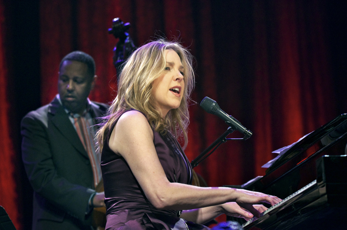 Diana Krall with bassist Bob Hurst at the State Theatre, Tri-C JazzFest, Cleveland, 4-12