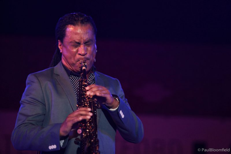 Marion Meadows on soprano sax at the Greater Hartford Festival of Jazz 2014