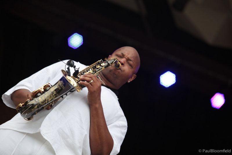 David Davis on saxophone at the Greater Hartford Festival of Jazz 2014
