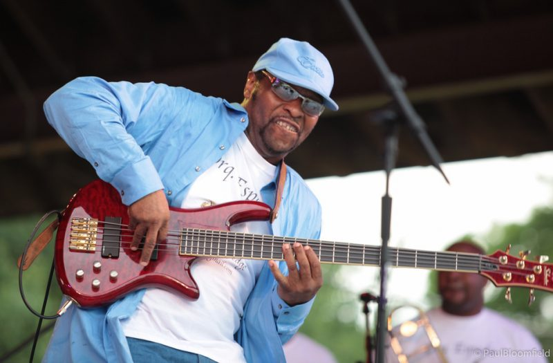 La Orquestra Espada's bassist Doug Long at the Greater Hartford Festival of Jazz 2014