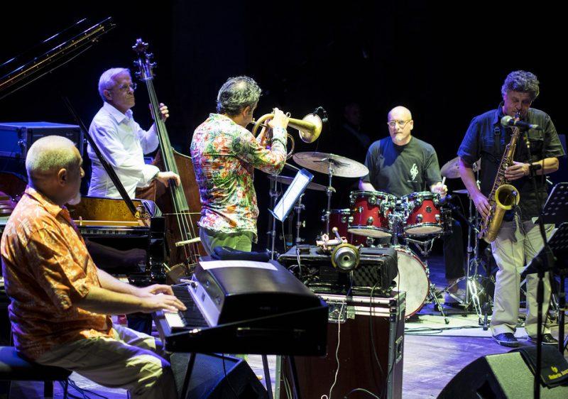 Roberto Cipelli, Attilio Zanchi, Paolo Fresu, Ettore Fioravanti and Tino Tracanna (from left) at Umbria Jazz 2014