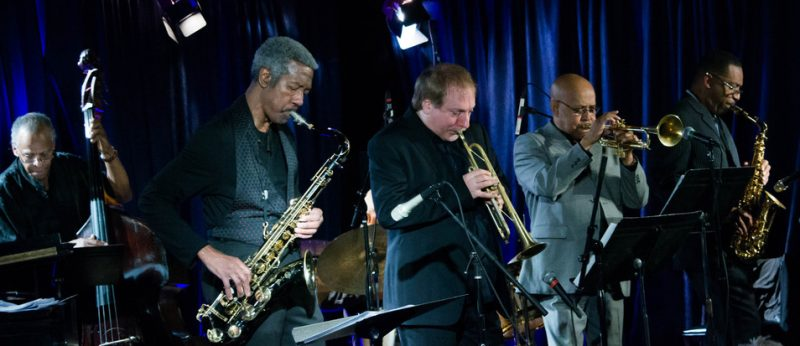 The Cookers' Cecil McBee, Billy Harper, David Weiss, Eddie Henderson and Donald Harrison, Iridium, NYC 4-14
