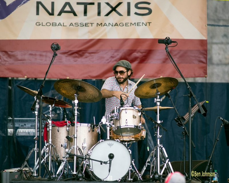 """Henry Cole with Miguel Zenón & The """"Identities"""" Big Band, Newport Jazz Festival 2014"""