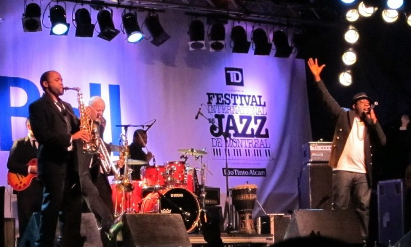 Blitz the Ambassador performing during the 2011 Montreal International Jazz Festival
