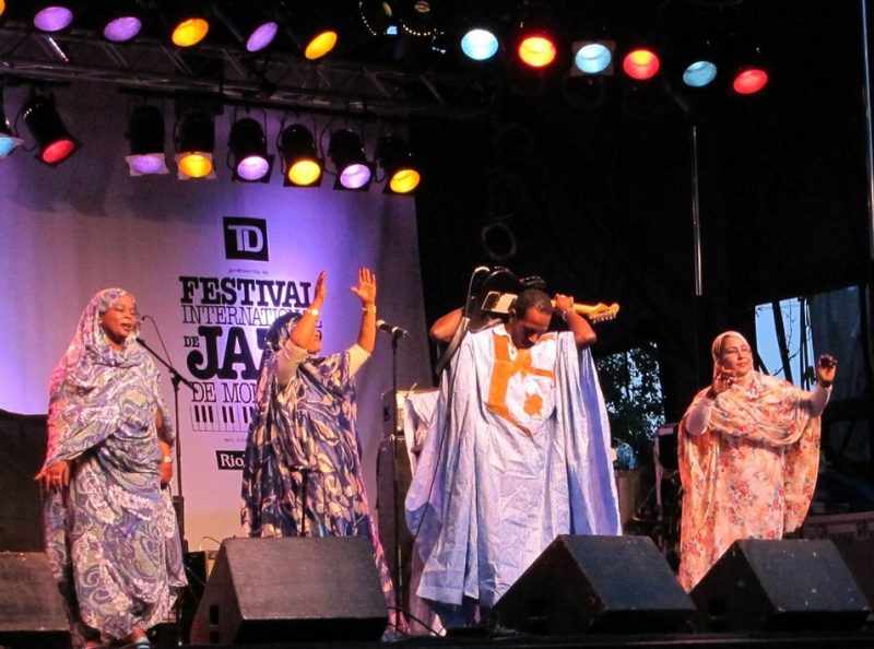 The Doueh Group performing during the 2011 Montreal International Jazz Festival