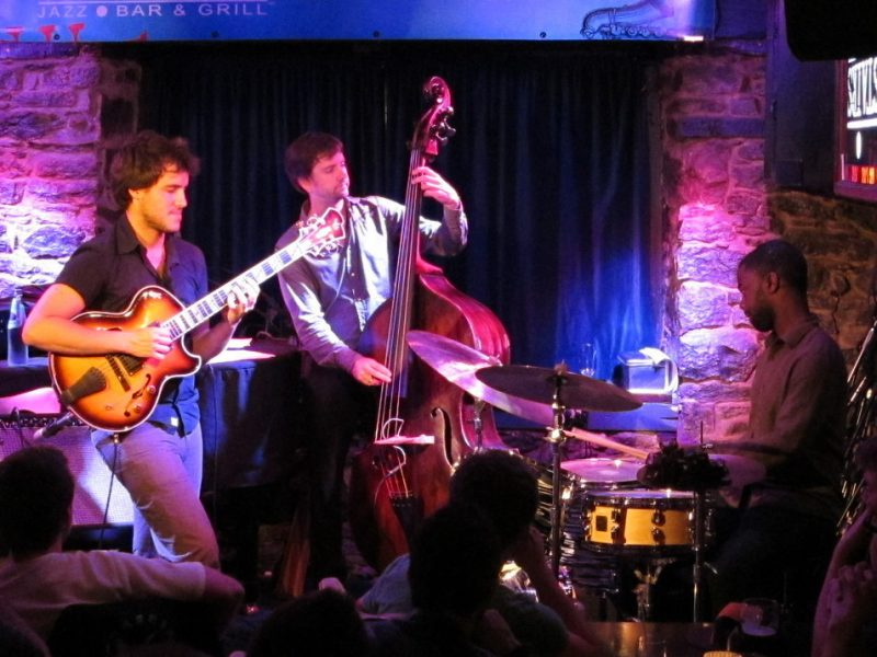 The Gilad Hekselman Trio performing during the 2011 Montreal International Jazz Festival