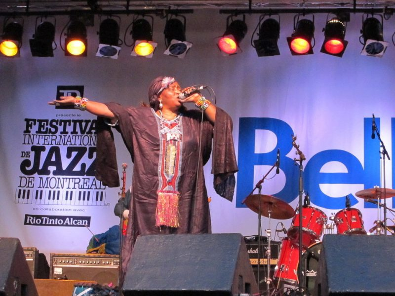 Khaira Arby performing during the 2011 Montreal International Jazz Festival