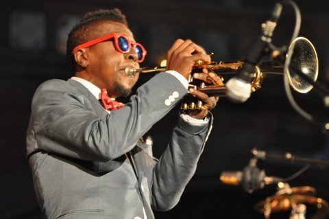 Roy Hargrove performs with his quintet at London's Union Chapel on July 31, 2014