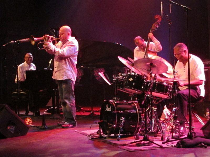 Stéphane Belmondo Quartet performing during the 2011 Montreal International Jazz Festival