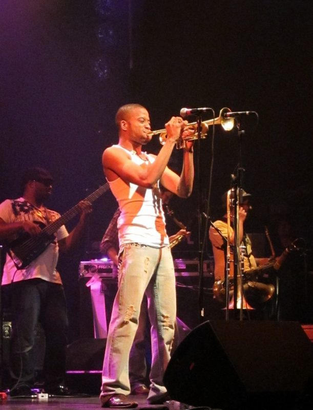 Trombone Shorty performing during the 2011 Montreal International Jazz Festival