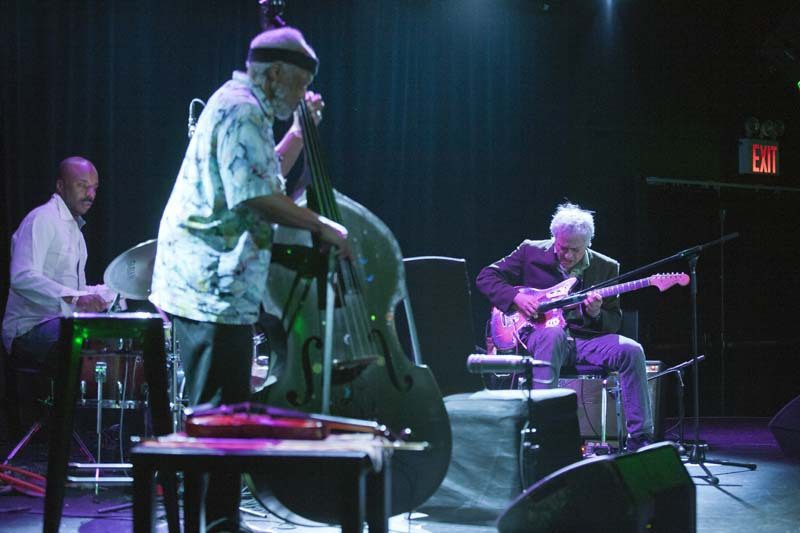 Marc Ribot (right) with Chad Taylor and Henry Grimes, NYC, 2014