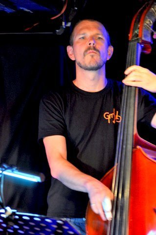 Martin Zenker performing with the Damon Brown Quintet at London's Pizza Express - Soho