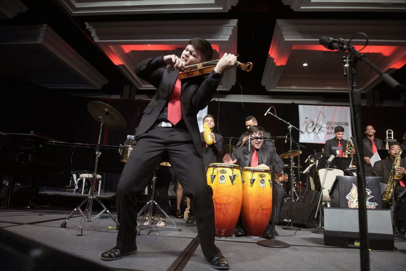 Caliente (Diaz Music Institute, Houston), Jazz Education Network conference, San Diego, 1-15