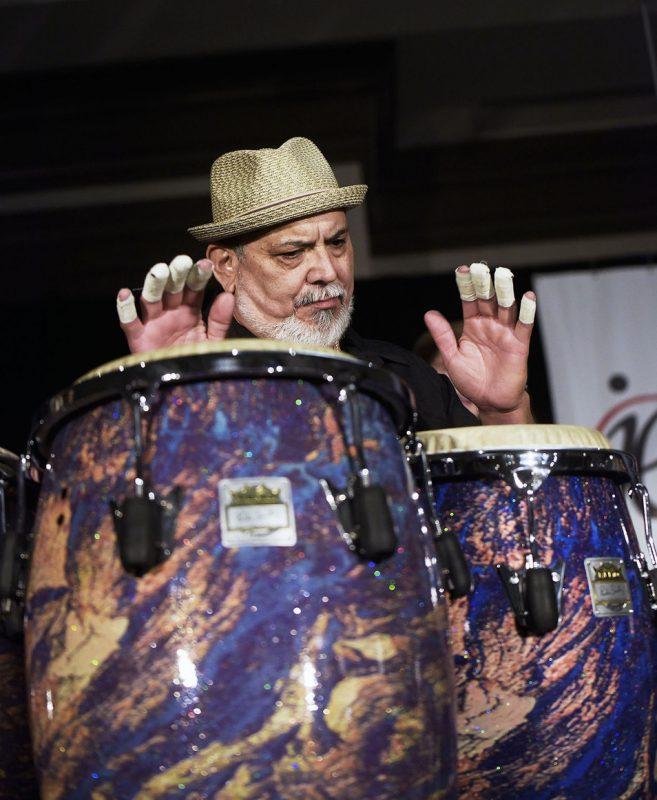 Poncho Sanchez, Jazz Education Network conference, San Diego, 1-15