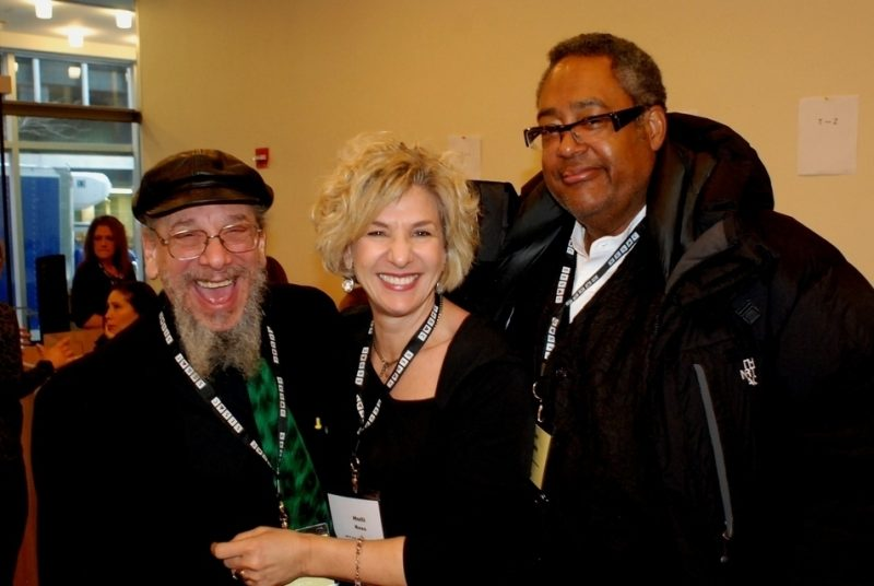 Mark Elf, Andrea Young and Jon Faddis at the 2015 Jazz Connect Conference