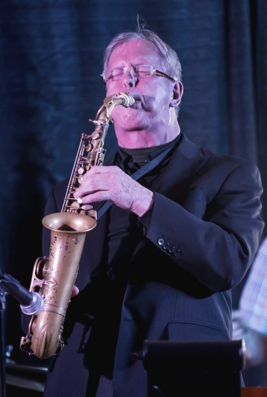 Saxophonist Dick Oatts performing at the Attucks Theater in Norfolk, Va.